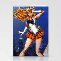 sailor venus Stationery Cards featuring Sailor Venus by Nelson Rodrigues