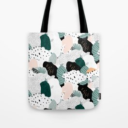 Leafy camouflage - pastel Tote Bag