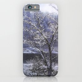 Snow Flowers Whimsy iPhone Case