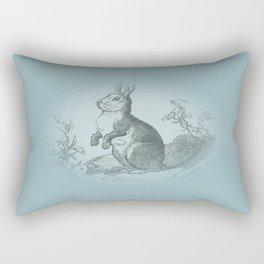 Bunny Rabbit {teal} Rectangular Pillow