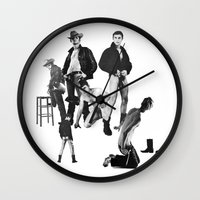 leather Wall Clocks featuring Leather by vooduude