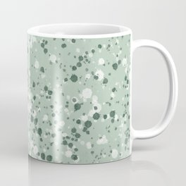 Light Green + White Splatter Print Coffee Mug