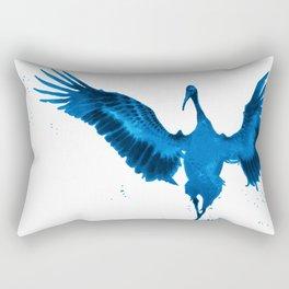 Blue Crane Rectangular Pillow