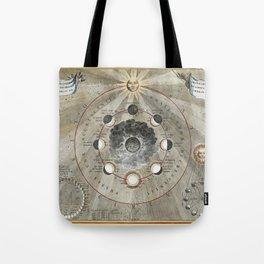 Celestial Map 1660f Tote Bag