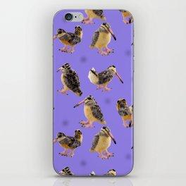 Purple Polka-Dotted Peents iPhone Skin