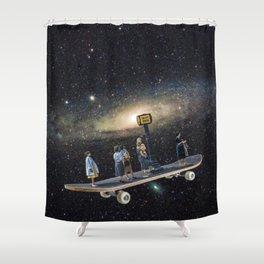 Galaxy board Shower Curtain