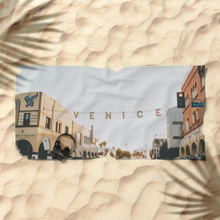 venice / los angeles, california Beach Towel