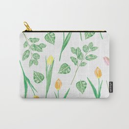 Tulips Floral Pattern Carry-All Pouch