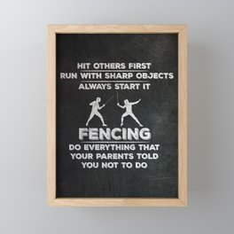 Fencer Framed Mini Art Print