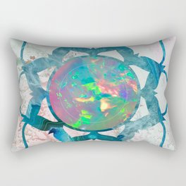 Psychedelic Crystal Lotus 2 Rectangular Pillow