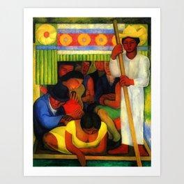 The Flowered Canoe by Diego Rivera Art Print