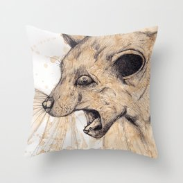 Litter Box Drop Throw Pillow