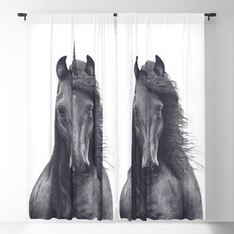 Black unicorn Blackout Curtain
