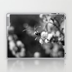 Flowering Almond in Black and White Laptop & iPad Skin