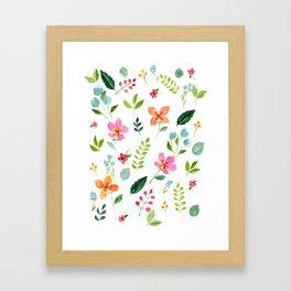 All Things Bright - White Framed Art Print