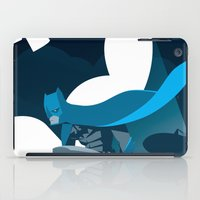 gotham iPad Cases featuring Knight Over Gotham by Florey