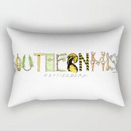 Southern Miss - Hattiesburg Rectangular Pillow