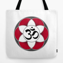 Om Seed of Life Red Tote Bag
