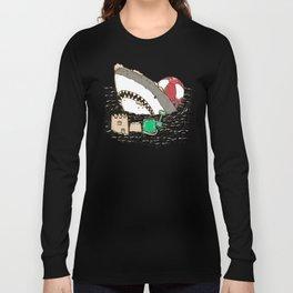 Sandy Beach Shark Long Sleeve T-shirt