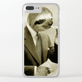 Gentleman Sloth 9# Clear iPhone Case