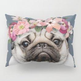 Hippie Pug Pillow Sham
