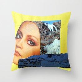 A Bird in Parallax Throw Pillow