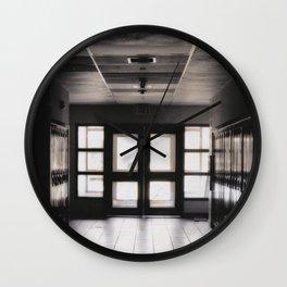 Dark Hallway Wall Clock