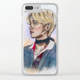 Cute Taehyung Clear iPhone Case