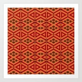 Tribal Pattern Design Art Print