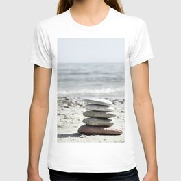 Balancing Stones On The Beach T-shirt