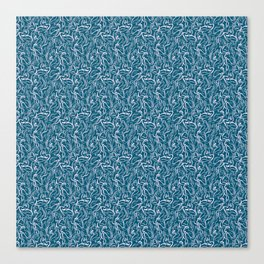 Movin' and Shakin' Teal/Pink Canvas Print