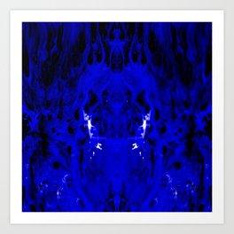 Abstract, Blue, Black, White (CA17018DM) Art Print