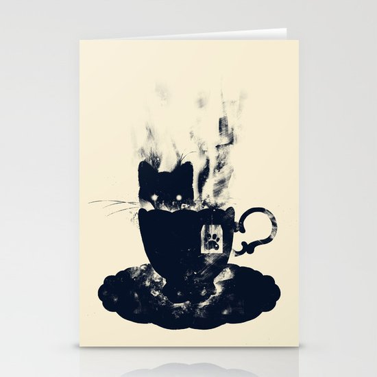 Having Tea With my Lovely Cat Stationery Cards