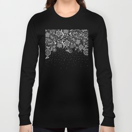 Elegant white lace floral and confetti design Long Sleeve T-shirt