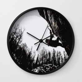 Climbers Silhouette #2 Wall Clock