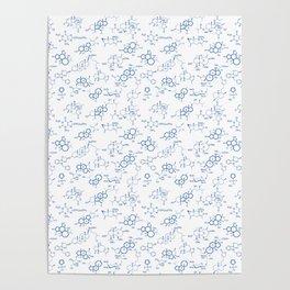Blue Molecules Poster