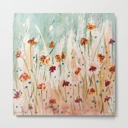 Tiger Lilies, Coneflowers, & Those Blue Things Metal Print