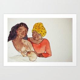 Black Breastfeeding Week Art Print