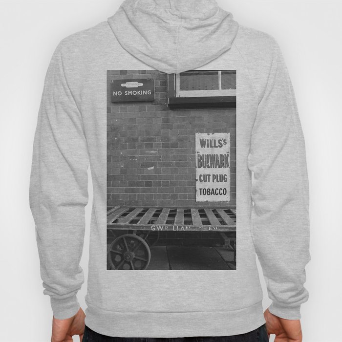 Vintage Railway Signs Black & White Hoody