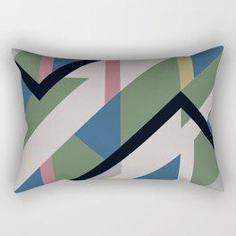 Modernist Dazzle Ship Camouflage Design Rectangular Pillow