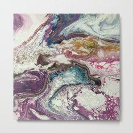 Euphoria, Pouring medium, acrylic on canvas Metal Print