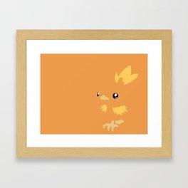 PKMN Torchic Framed Art Print