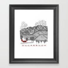 Sugarbush Vermont Serious Fun for Skiers- Zentangle Illustration Framed Art Print