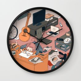 Happy Loner Girl Wall Clock