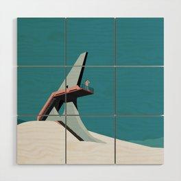 Soviet Modernism: Viewing platform in Sevan Wood Wall Art