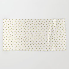 Gold Spots Beach Towel