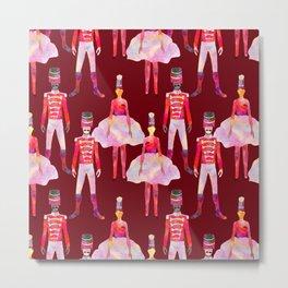 Nutcracker Ballet - Berry Red Metal Print