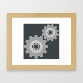 Settings Icon Framed Art Print