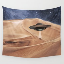 ALIEN DESERT ABDUCTION Wall Tapestry