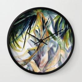Destin Palm Wall Clock